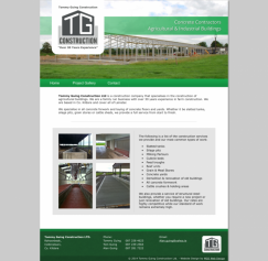New Website Design - TG Construction