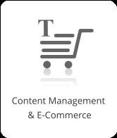 Content Management  & E-Commerce